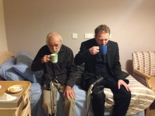 Wycliffe loved a cup of tea with his sons